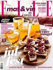 Tidningen ELLE mat & vin 4 nummer