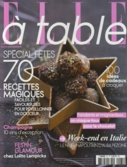 Tidningen Elle A Table (French Edition) 6 nummer