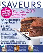 Tidningen Saveurs (French Edition) 10 nummer
