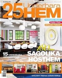 Framsida: tidningen 25 Underbara hem