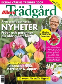 Framsida: tidningen Allers Trädgård