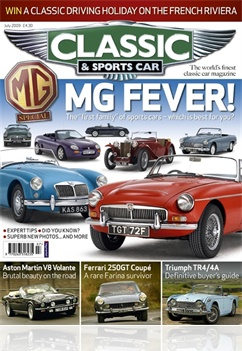 Tidningen Classic And Sports Car Magazine
