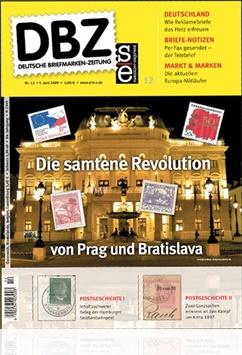 Tidningen Dbz Deutsche Briefmarken-zeitung