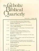Catholic Biblical Quarterly