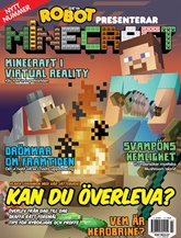 Robot presenterar Minecraft prenumeration
