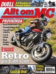 Tidningen Allt om MC 9 nummer