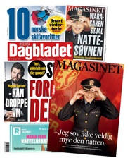 Tidningen Dagbladet Lørdag med Magasinet 12 nummer