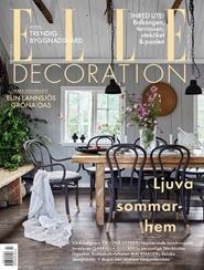 Tidningen ELLE Decoration 5 nummer