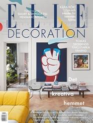 Tidningen ELLE Decoration 4 nummer