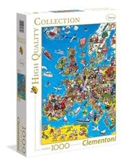 Tidningen Europe Map Pussel, 1000 bitar 1 nummer