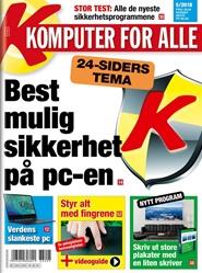 Tidningen Komputer for alle 4 nummer