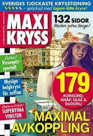 Tidningen Maxikryss 8 nummer