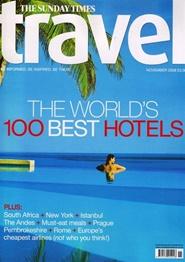 Tidningen Sunday Times Travel Magazine 12 nummer