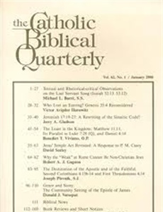 Prenumeration Catholic Biblical Quarterly