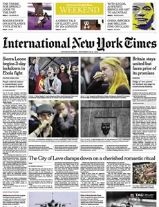 Prenumeration International New York Times (Saturday Only)