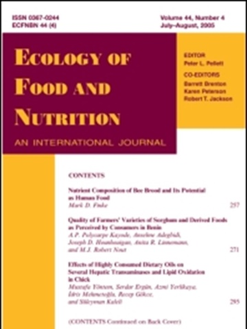 Prenumeration Ecology Of Food And Nutrition